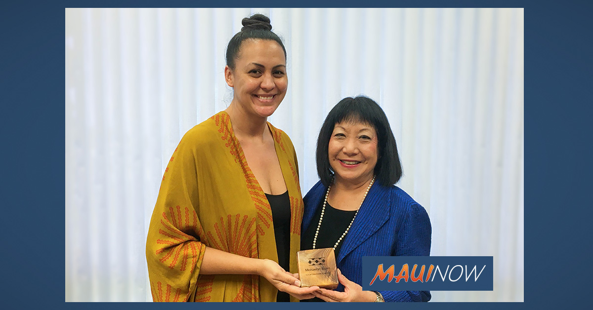 Maui Woman Honored for Community Service in Hawaiian Language Community