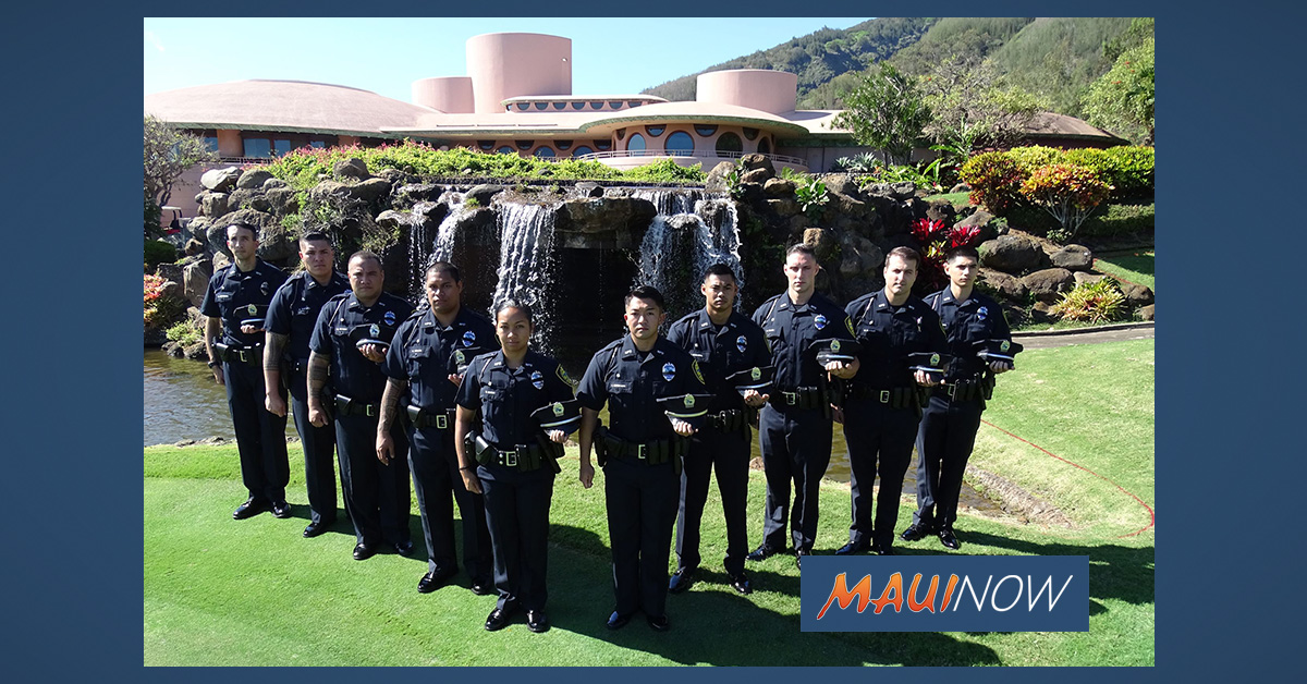 10 Recruits Join the Ranks of Maui Police Department