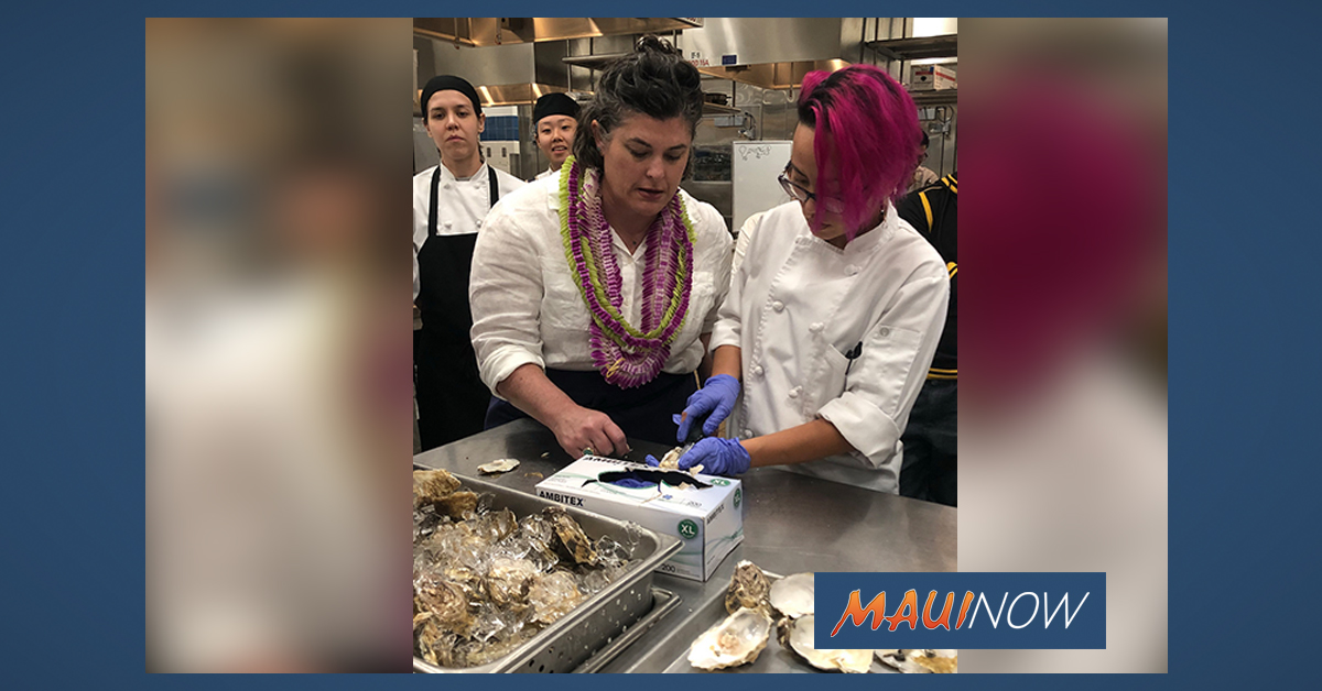 UHMC Culinary Students Cook Oysters and Halibut with Award Winning Chef