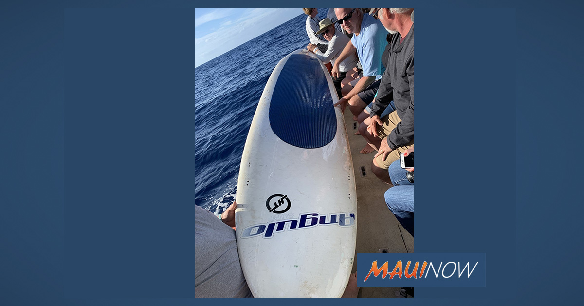 Adrift Paddle Board Found Off Launiupoko,