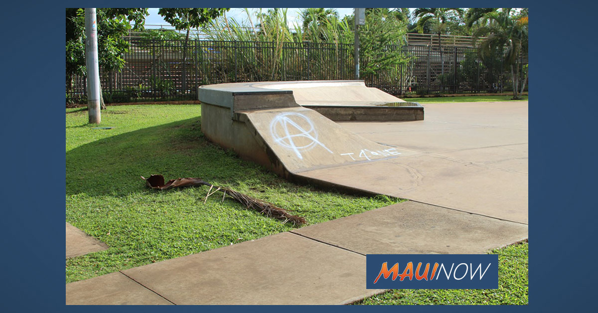 Vandalism Forces Closure of Lahaina Skate Park