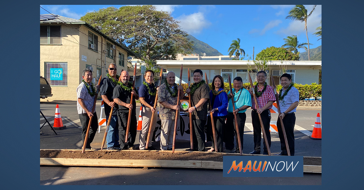 County Breaks Ground on Wailuku Town Improvements Project