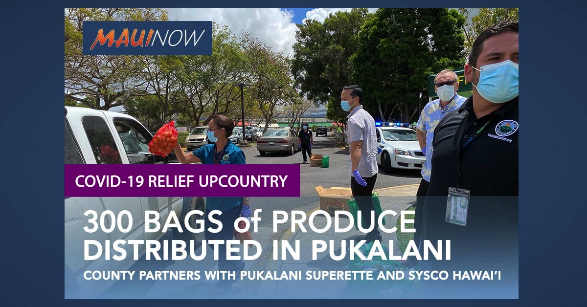 300 Bags of Produce Handed Out at Pukalani Food Distribution Event