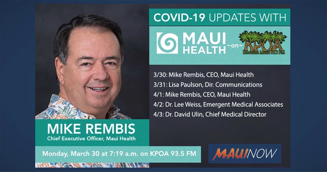 Tune In to Maui Health Updates Daily, What's Your Questions?