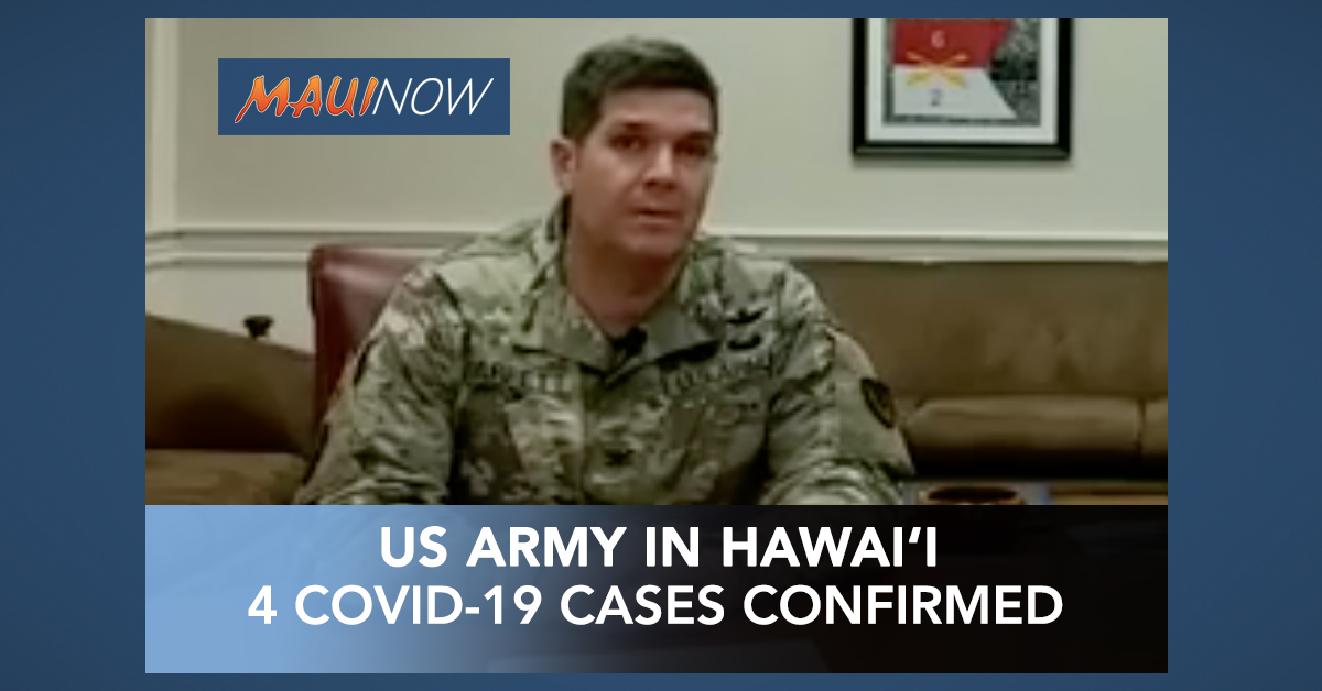 US Army in Hawai'i Now Has Four Positive COVID-19 Cases