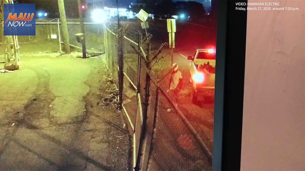 Surveillance Images Released in Lahaina Substation Burglary