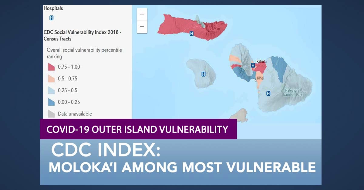 CDC Ranks Moloka'i Among the Most Vulnerable Communities in Maui County