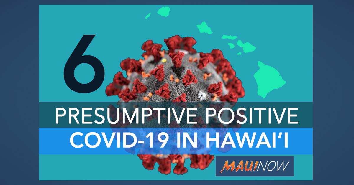 COVID-19 Daily Update: 6 Confirmed Cases in Hawaiʻi