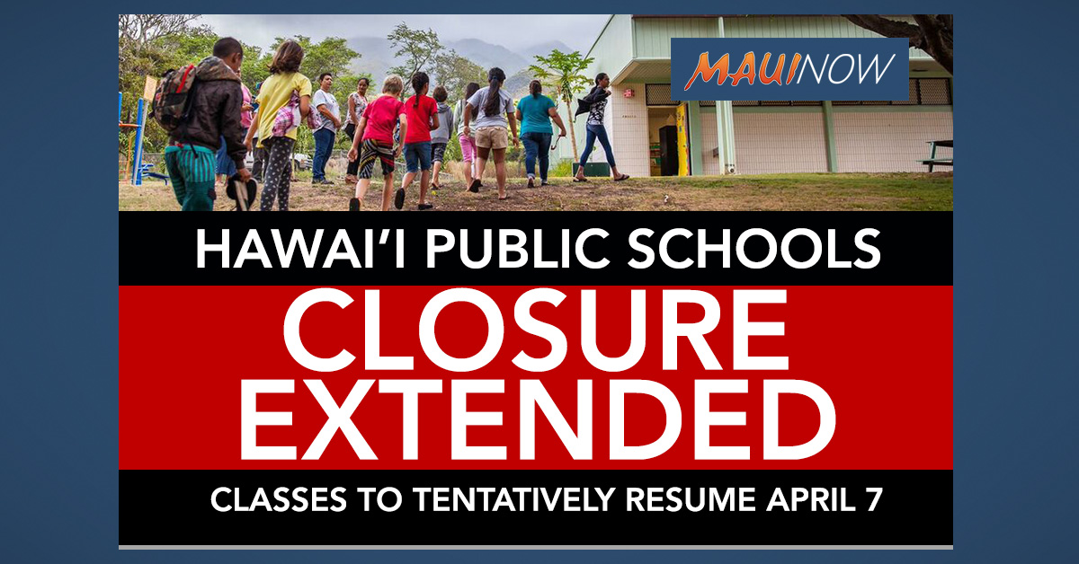 HIDOE Employees to Begin Remote Work March 19, School Closure Extended