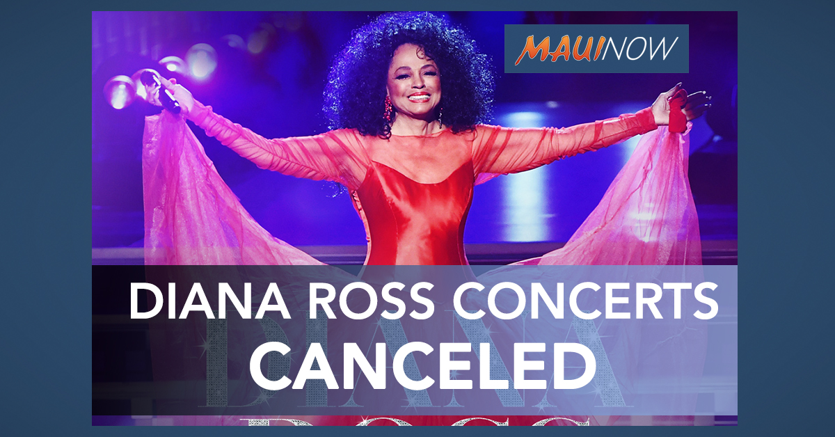 Diana Ross Hawai'i Concert Dates Canceled Due to COVID-19 Concerns