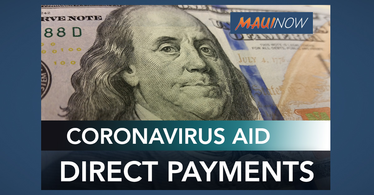 US Sen. Schatz Outlines Coronavirus Aid Direct Payments to Individuals