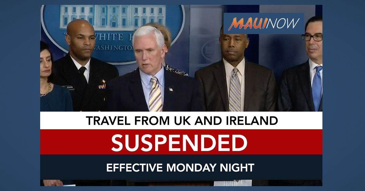 Travel From UK and Ireland to be Suspended on Monday Night