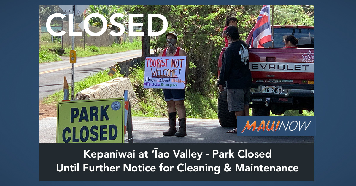 Kepaniwai at 'Īao Valley Closed for Cleaning