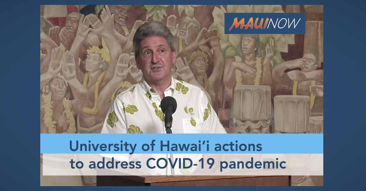 UH President Details Actions to Address COVID-19 Pandemic