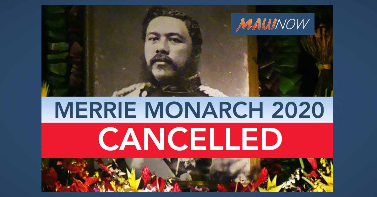 Merrie Monarch 2020 Cancelled