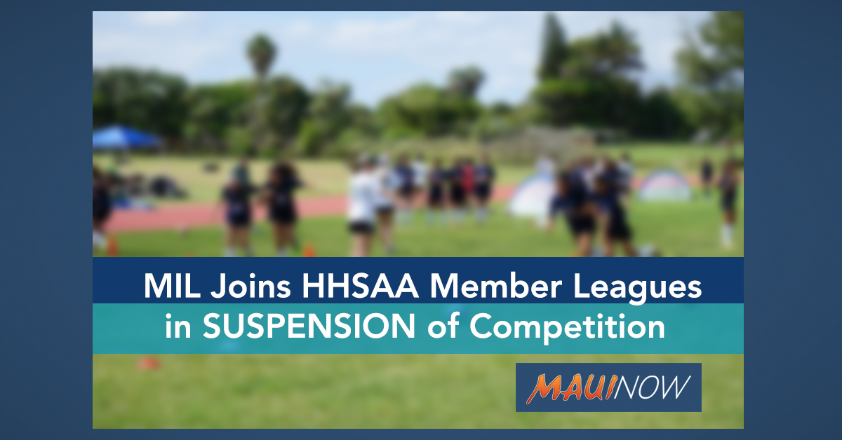 MIL Joins HHSAA Member Leagues in Suspension of Competition