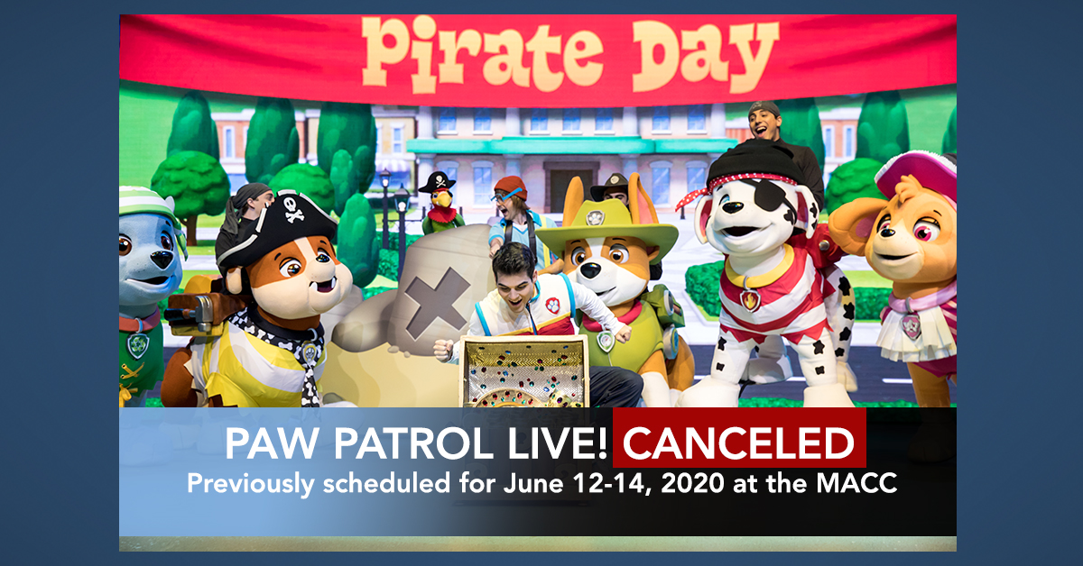 PAW Patrol Live! Maui Shows Canceled in June