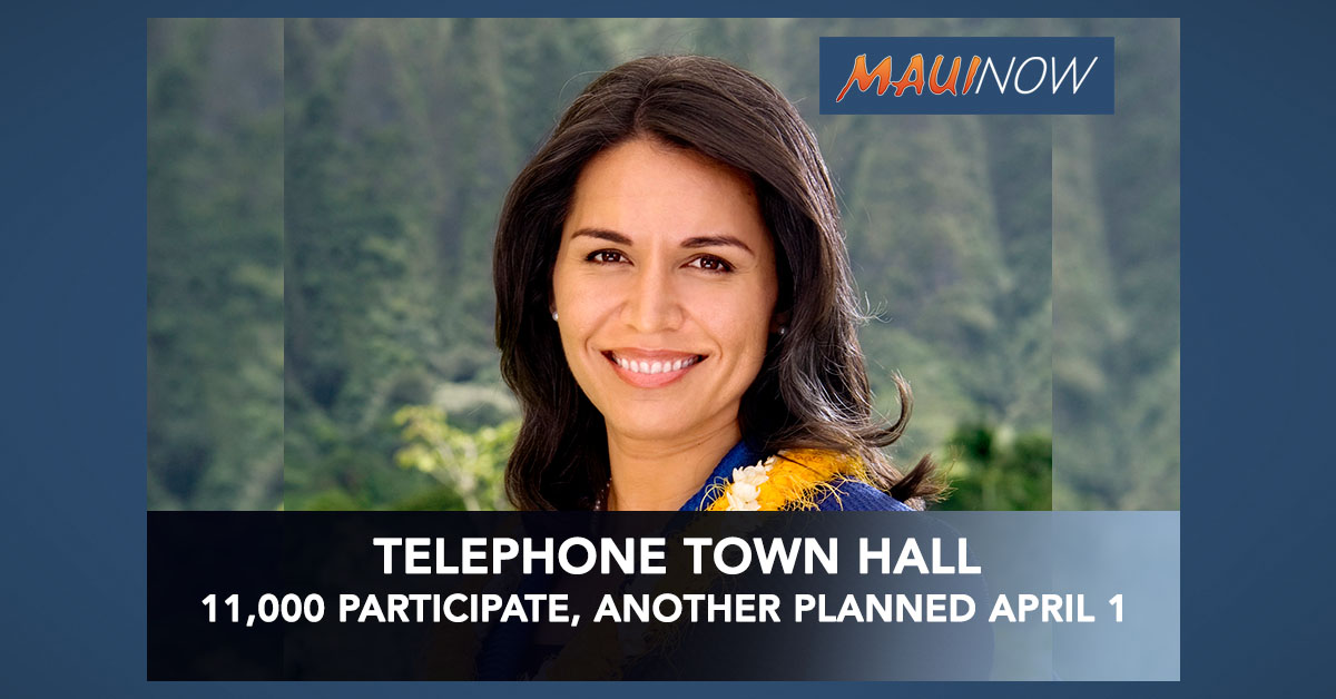 11K Participate in Telephone Town Hall, Another Planned on April 1