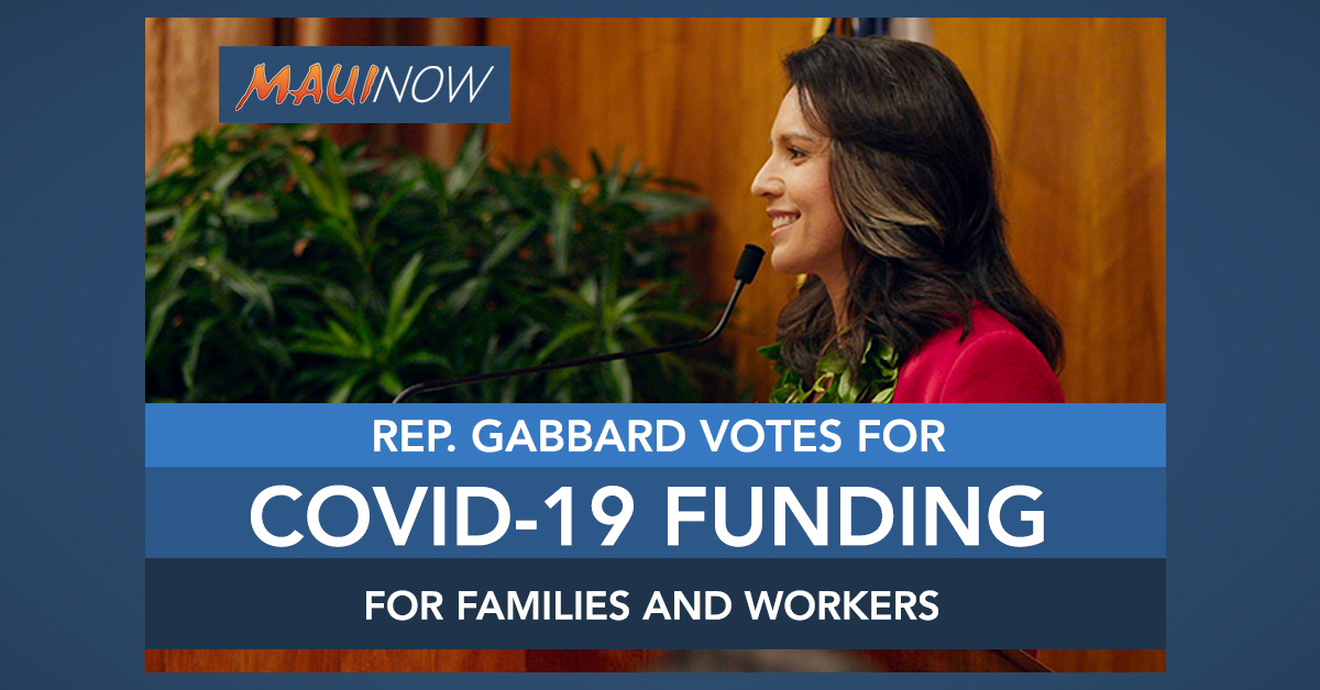 Rep. Gabbard Votes for Emergency Coronavirus Funding for Families and Workers