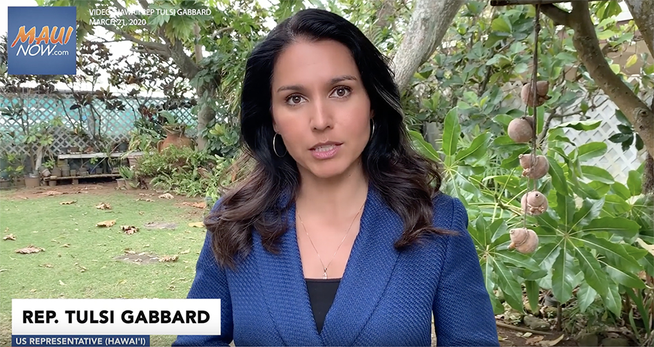 Rep. Tulsi Gabbard Calls For 14-Day Self-Quarantine Of Arriving Travelers & Returning Residents