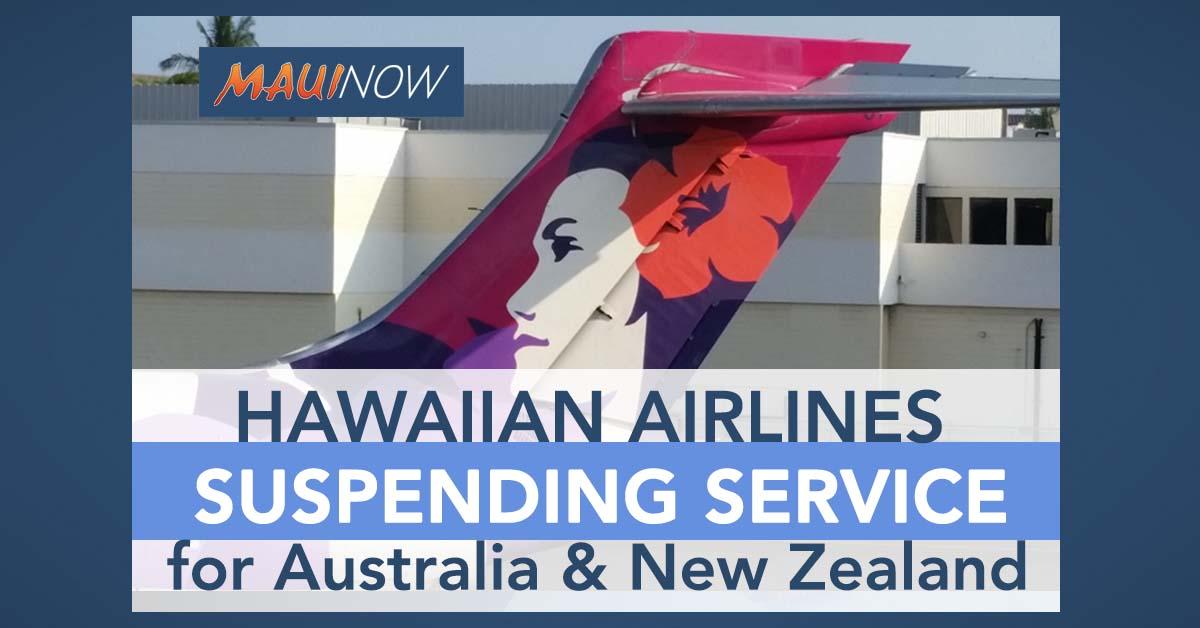 Hawaiian Airlines Suspending Australia and New Zealand Service