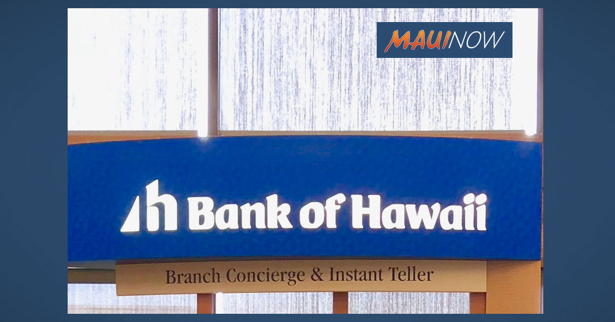 Bank of Hawaiʻi Reopens Kahana Branch, Dec. 7