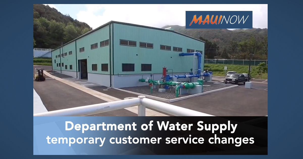 Department of Water Supply Announces Customer Service Changes