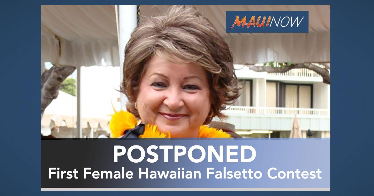 First Female Hawaiian Falsetto Contest Postponed