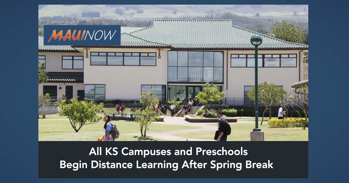 All KS Campuses and Preschools to Begin Distance Learning After Spring Break