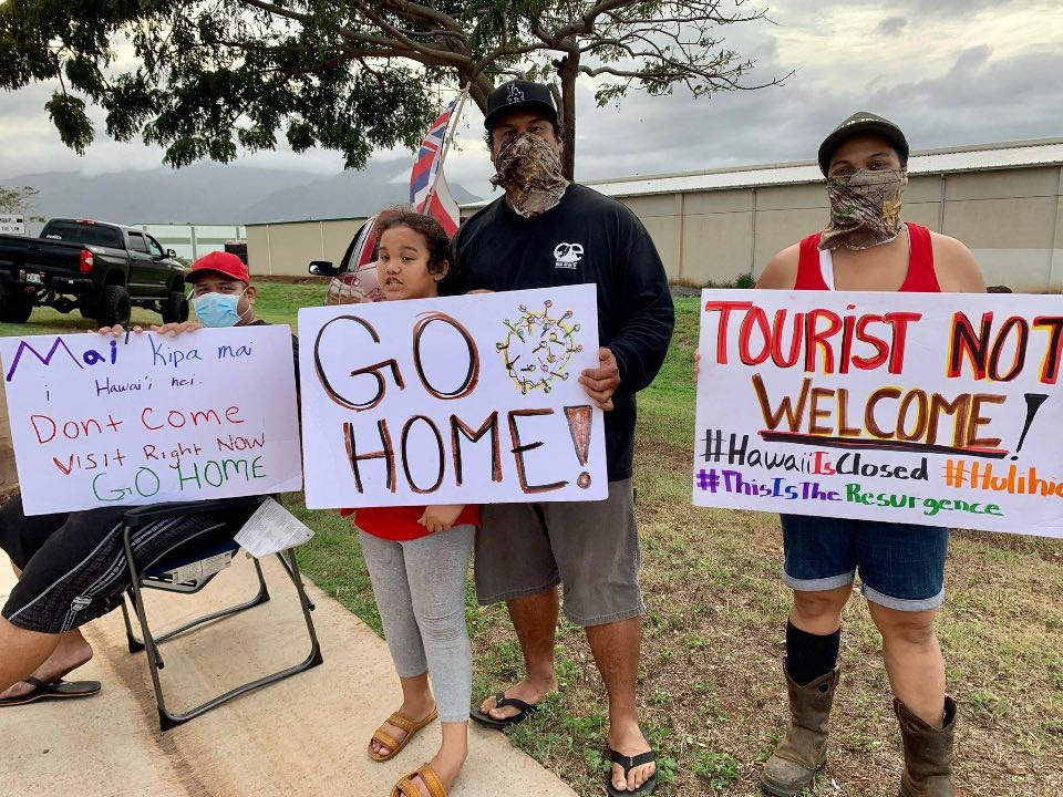 Group of Residents Protest Tourism Over Coronavirus Concerns