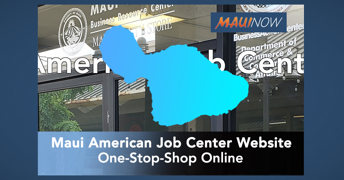 Maui Launches New American Job Center Website