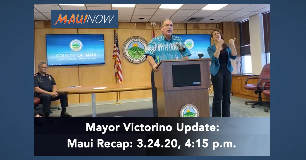 Mayor Update: Considers Designating Maui Quarantine Hotel for Arriving Residents