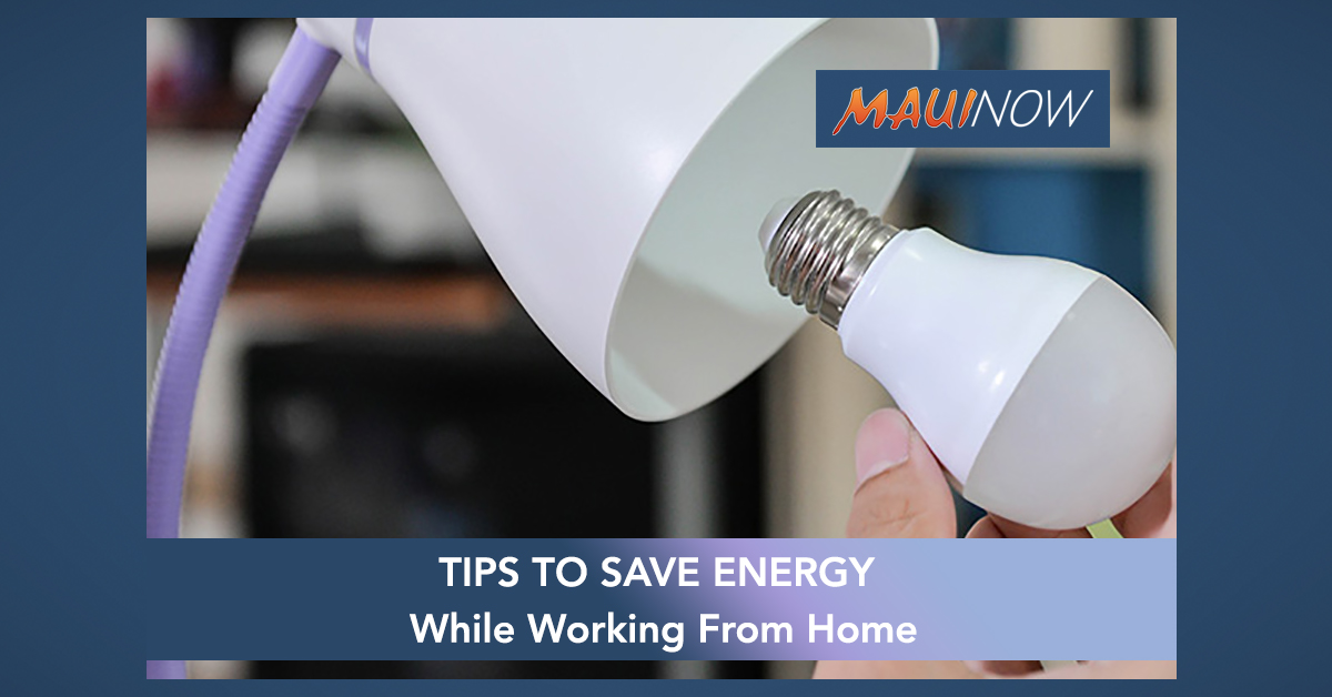 How To Save Energy While Working From Home