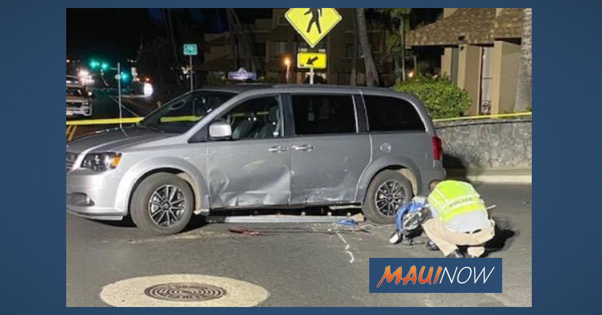 Moped Operator Hospitalized in Near Fatal Crash on South Kīhei Road