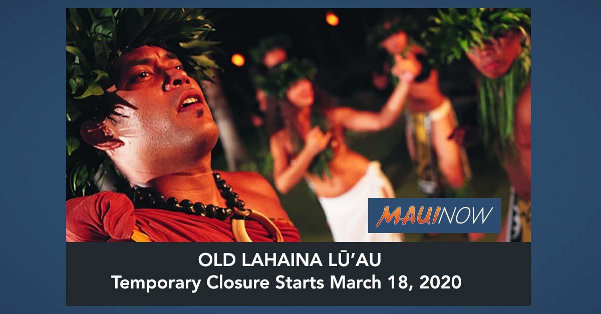 Maui's Old Lahaina Lūʻau Implements Temporary Closure