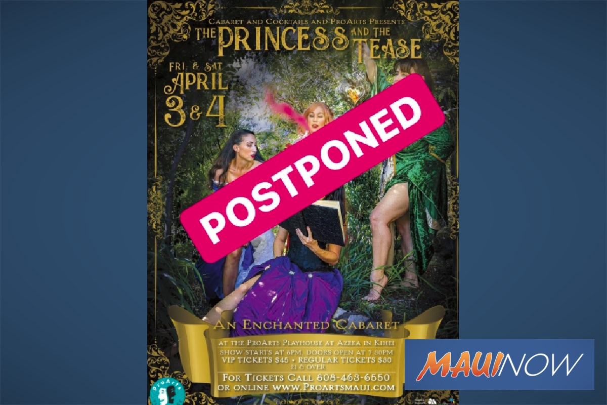 ProArts Playhouse Postpones Performances
