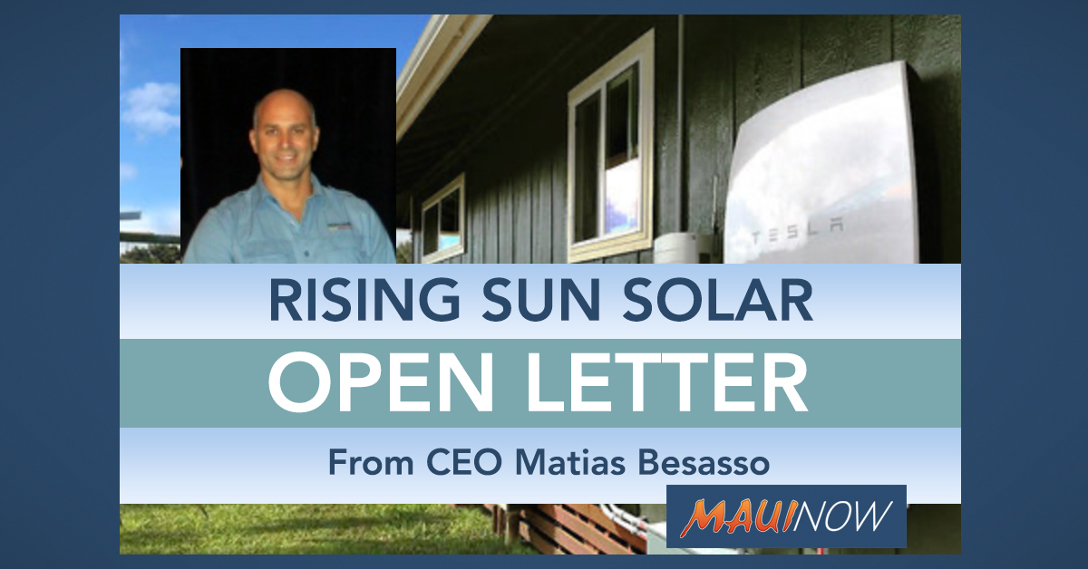 BUSINESS PERSPECTIVE: Rising Sun Solar Makes Commitment to Public Health Guidelines