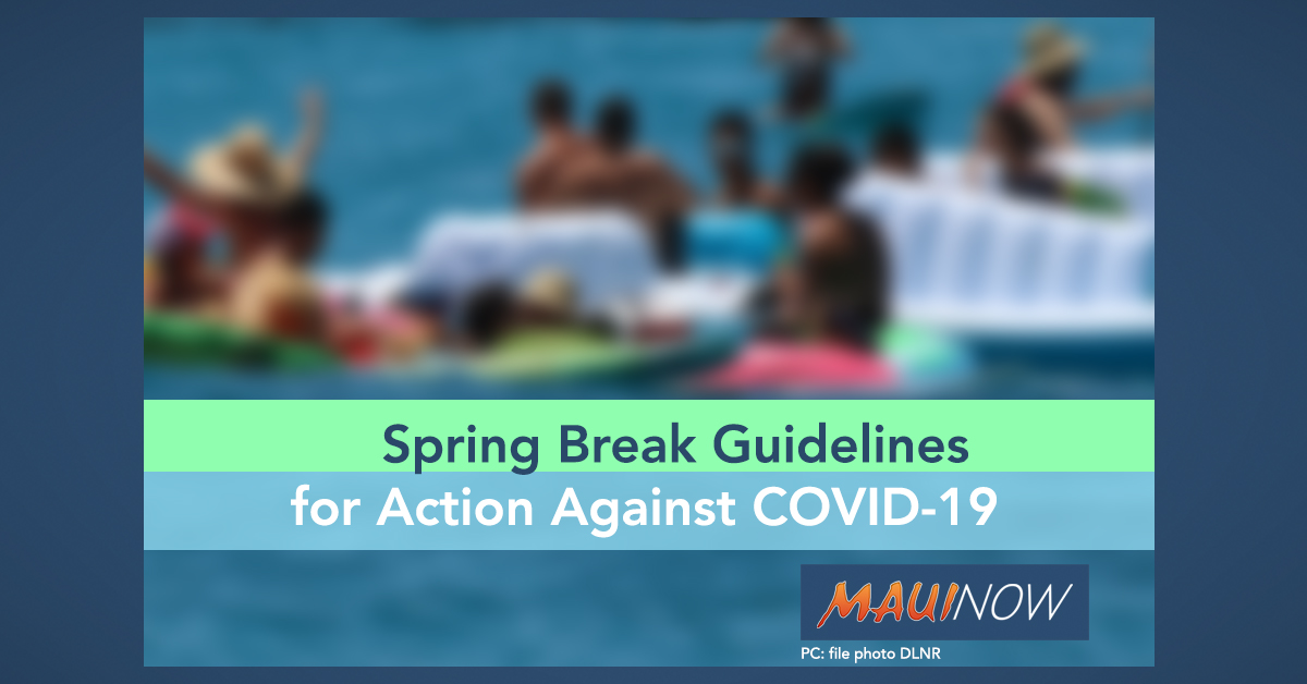 Spring Break Guidelines for Action Against COVID-19