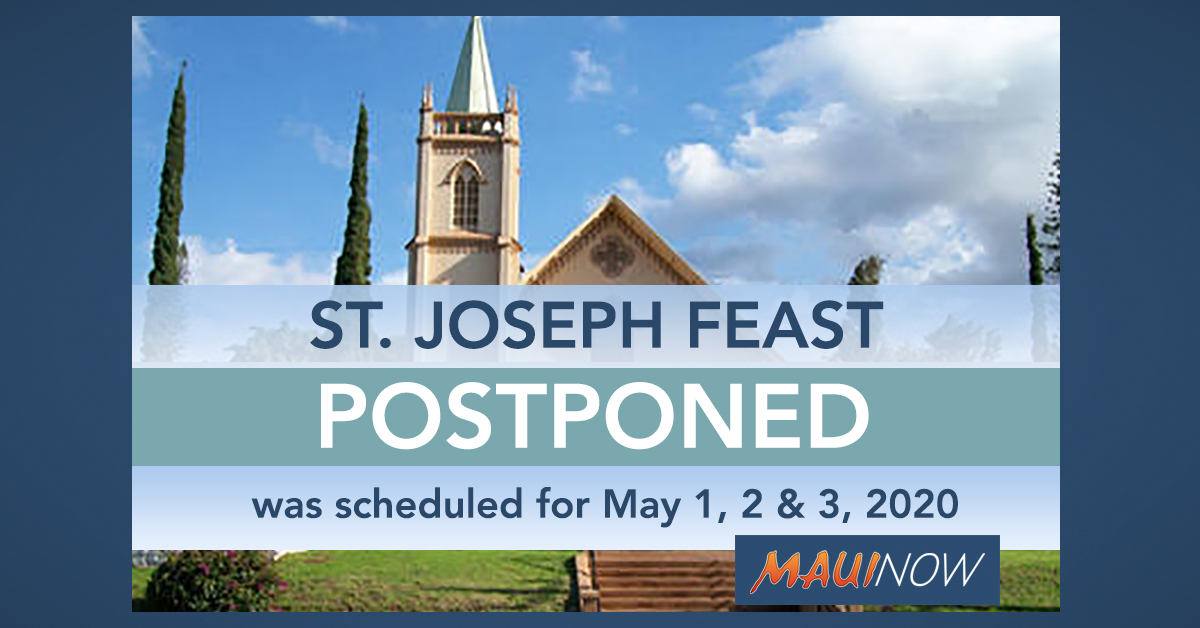 Maui's St. Joseph Feast Postponed