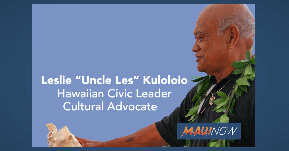 "Mayor Extends Condolences to Leslie ""Uncle Les"" Kuloloio"