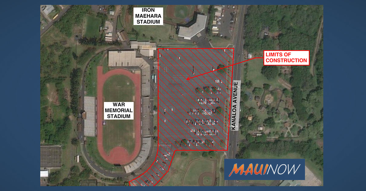 War Memorial Football Stadium Parking Lot Closed From March 2 to Aug. 31