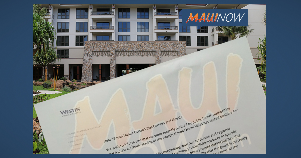 Another Visitor to Maui Tests Positive for COVID-19, Resort Confirms Cleaning Protocols Underway