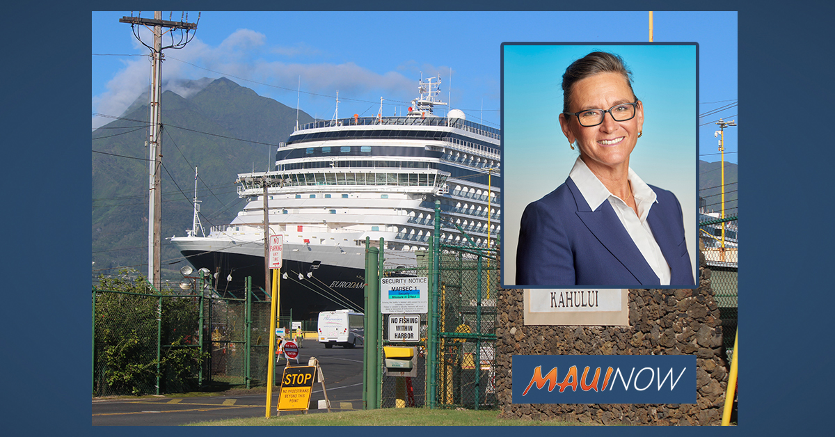 Maui Rep. Wildberger Joins in Call for Cruise Ship Moratorium