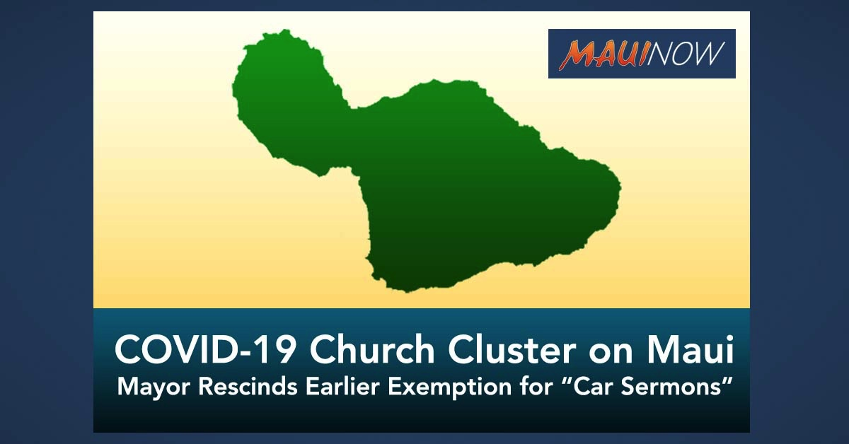 Recent COVID-19 Cases Include Church Cluster on Maui