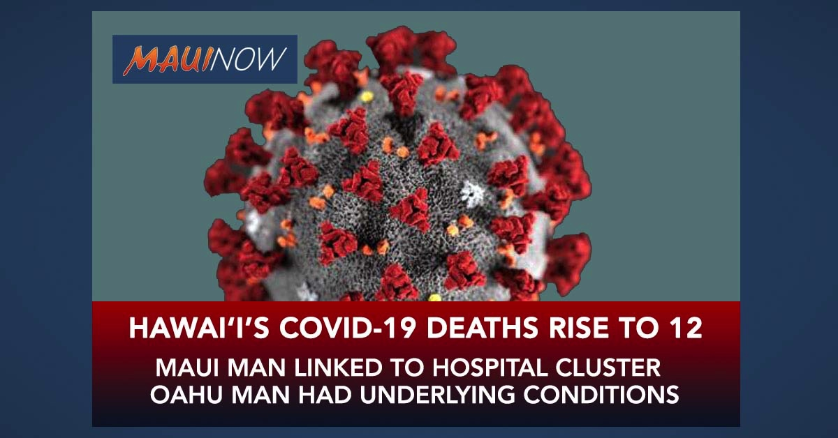 Hawai'i Has Two More Deaths Linked to COVID-19: One More Each on Maui and O'ahu