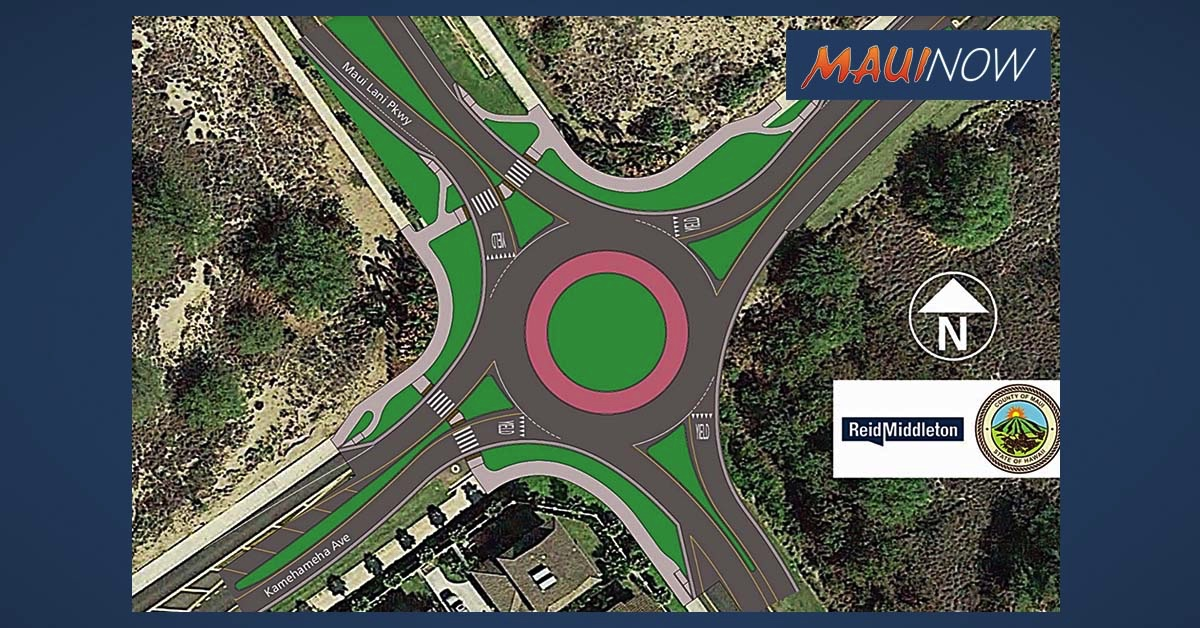 Work Begins Monday on $3.15 Million Maui Lani Roundabout