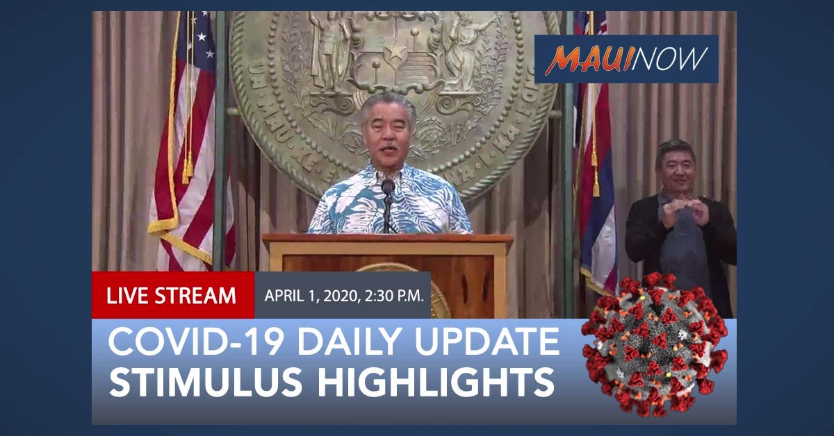 LIVE: Governor Ige Highlights Federal Stimulus for COVID-19 and SBA Loans in Hawai'i