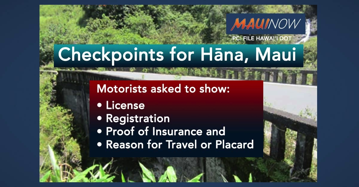 Checkpoints Aim to Add Layer of Protection for Hāna