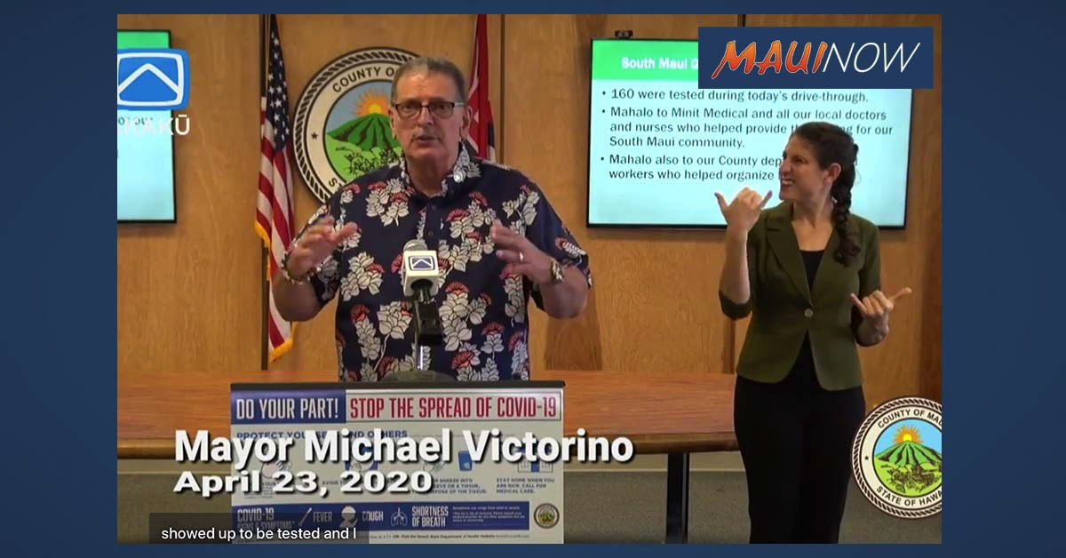 LIVE STREAM: Maui Mayor COVID-19 Daily Update, April 23, 2020