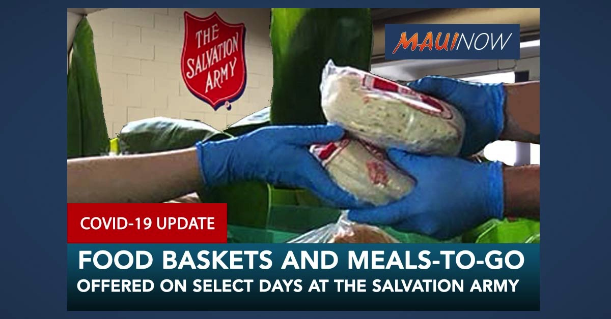 Salvation Army of Maui Helping to Distribute Donations for COVID-19 Response